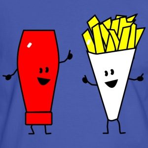french fries ketchup T-shirts - Kontrast-T-shirt herr