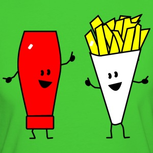 french fries ketchup T-shirts - Ekologisk T-shirt dam