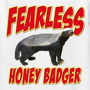 Fearless Honey Badger Kids' Shirts - Teenage T-shirt