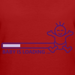 baby_is_loading_text_version_2c T-shirts - Organic damer