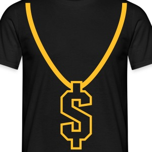 necklace_dollar_1c T-shirts - Herre-T-shirt