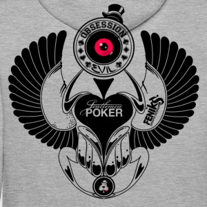 beattle poker Sweat-shirts - Sweat-shirt à capuche Premium pour hommes