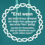 Motiv ~ Kapuzenshirt Weissagung weißer Druck (Farbwahl)