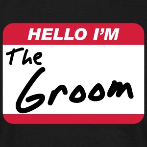 Hello I'm the Groom - Herre-T-shirt