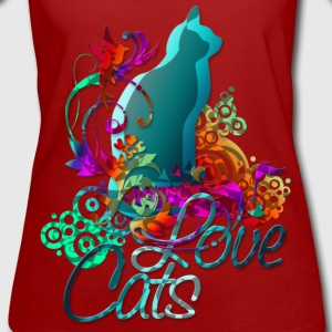 LOVE CATS mit Text | Frauenshirt organic - Frauen Bio-T-Shirt