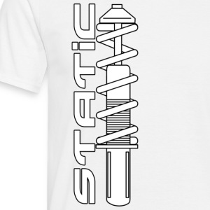 Static (with word) Tee (top right) - Men's T-Shirt