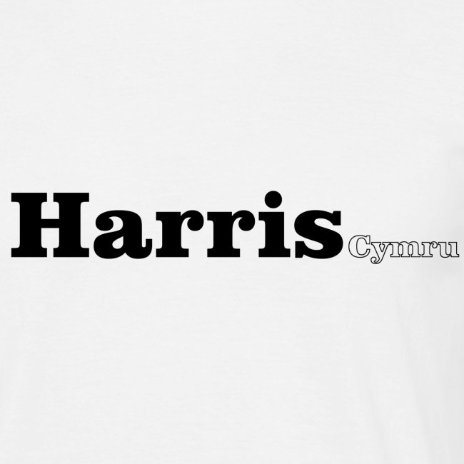 Harris Cymru black text