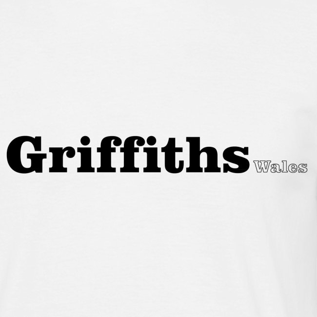 Griffiths Wales black text