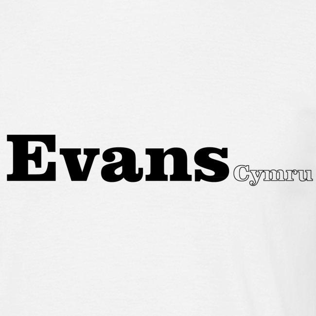 Evans Cymru black text