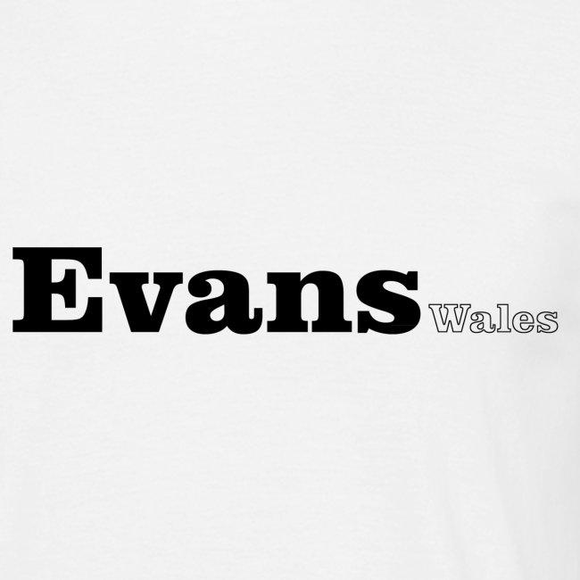 Evans wales black text