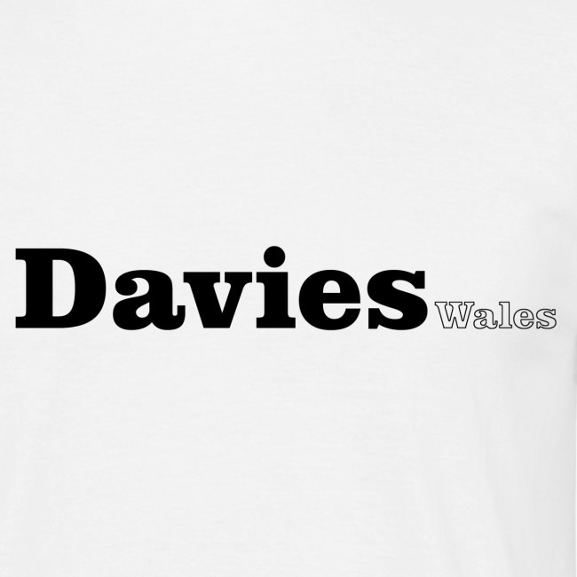 Davies Wales black text