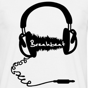 Headphones Headphones Audio Wave Motif: Breakbeat  T-Shirts - Men's T-Shirt