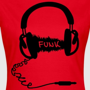 Headphones Kopfhörer Audio Wave Funk Musik T-Shirts - Frauen T-Shirt
