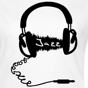 Headphones Kopfhörer Audio Wave Motiv : Jazz Musik Audiophil T-Shirts - Frauen T-Shirt