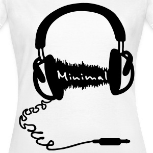 Headphones, audio wave minimum MNML Music  T-Shirts - Women's T-Shirt