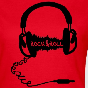 Headphone audio bølge motiv: Rock & Roll Music  T-skjorter - T-skjorte for kvinner