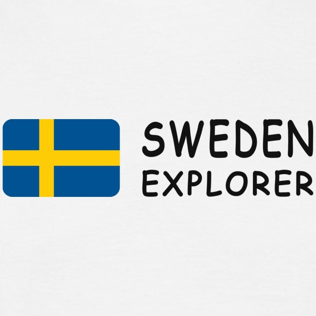 Classic T-Shirt SWEDEN EXPLORER black-lettered