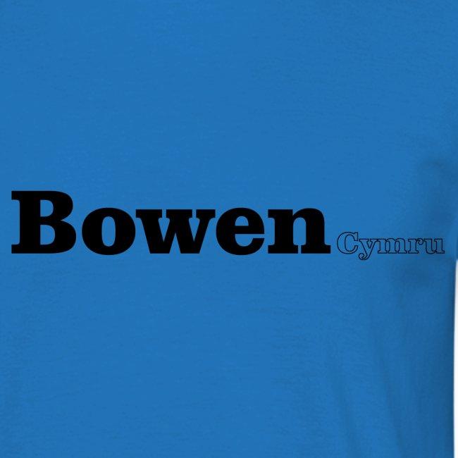 Bowen Cymru black text