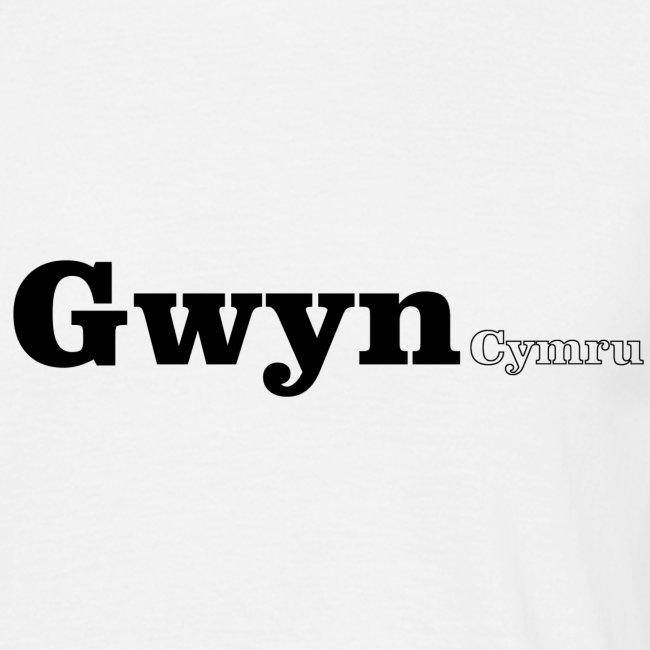 Gwyn Cymru black text