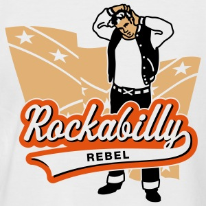 Rockabilly Rebel, T-Shirt - T-shirt baseball manches courtes Homme
