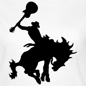 Guitar Hero rodeo cowboy on horseback, horse T-Shirts - Women's T-Shirt