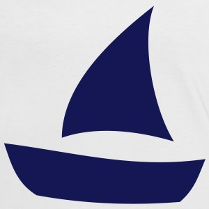 Navy Blue Sailing Boat Design T-Shirts - Women's Ringer T-Shirt