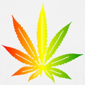 cannabis_tricolor_linear_leaf T-shirts - T-shirt Homme