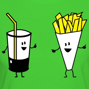 french fries drink T-shirt - T-shirt ecologica da donna
