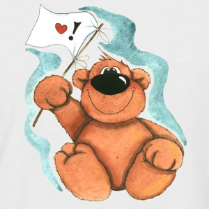 Little Bear with Flag T-shirts - Kortærmet herre-baseballshirt