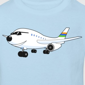 Happy Airplane - Kindershirt / hellblau - Kinder Bio-T-Shirt