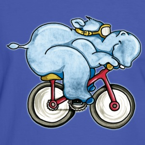 The Hippo rides a bike T-Shirts - Men's Ringer Shirt