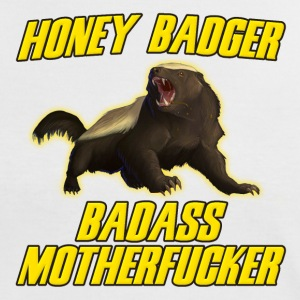Honey Badger Badass Motherfucker T-Shirts - Women's Ringer T-Shirt