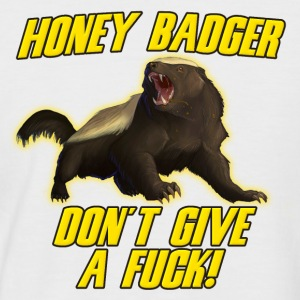 Honey Badger Don't Give A Fuck T-Shirts - Men's Baseball T-Shirt