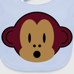 little monkey bib - Baby Organic Bib
