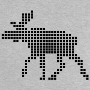 Heather grey Pixel Elk Baby Shirts  - Baby T-Shirt