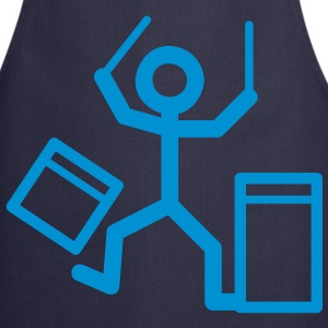 Drummers stick figure  Aprons - Cooking Apron