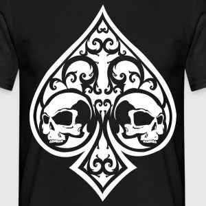 Ace of Spades Men's shirt - black/white - Men's T-Shirt
