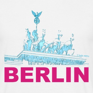 T-Shirt Mann Quadriga Berlin mit schatten © by kally ART® - Männer T-Shirt