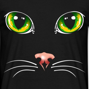 Black cat eyes - Mannen T-shirt