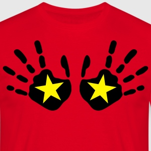 star_handprints_2c T-skjorter - T-skjorte for menn