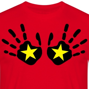 star_handprints_2c T-shirts - Mannen T-shirt