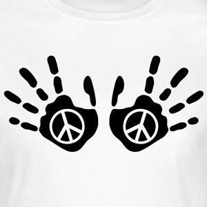 peace_handprints_1c T-shirts - Dame-T-shirt