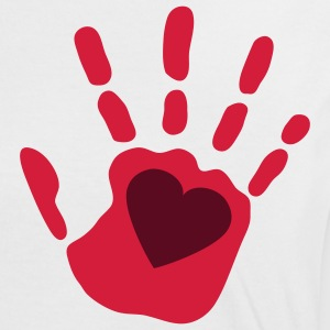 love_handprint_2c T-Shirts - Frauen Kontrast-T-Shirt