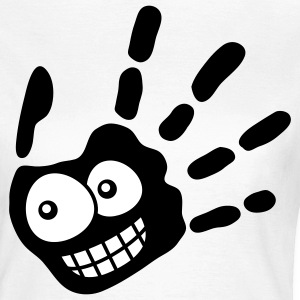 face_handprint_2c T-shirts - Vrouwen T-shirt