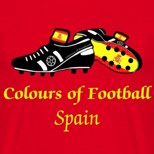 spain_colours_of_football T-Shirts - Men's T-Shirt