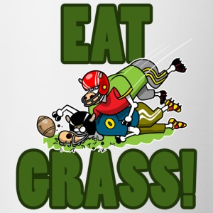 EAT GRASS Mugs  - Mug