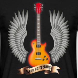 guitars_and_wings_red T-shirts - T-shirt Homme