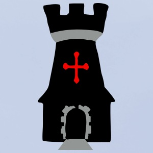 Medieval fantasty Tower Symbol Accessories - Baby Organic Bib