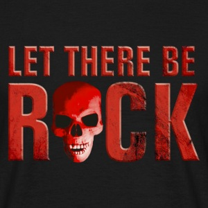 let_there_be_rock_skull_red T-shirts - T-shirt Homme