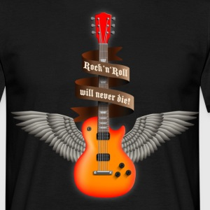 rock_guitar_a_red T-shirts - T-shirt Homme